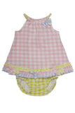 Baby Biscotti Newborn Little Picnic Dress and Panty