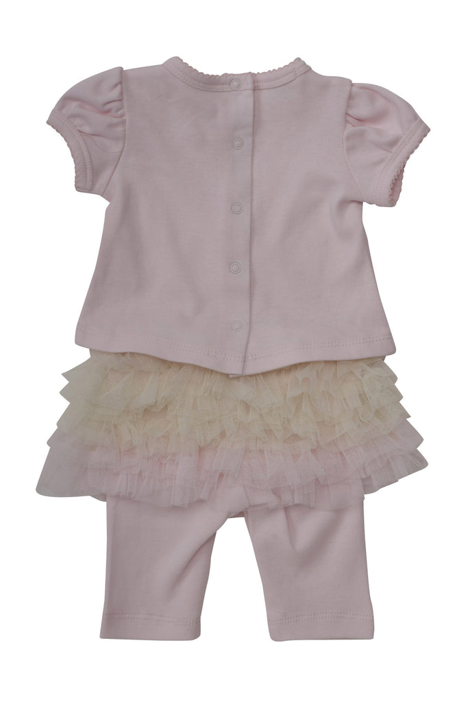 Baby Biscotti Newborn Baby Sachet Top and Tutu Legging in Pink