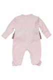 Baby Biscotti Neapolitan Treat Long Sleeve Footie in Pink