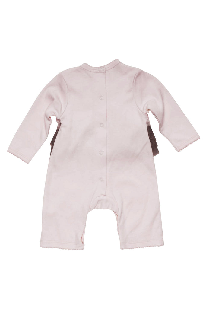 Baby Biscotti Neapolitan Treat Long Sleeve Romper in Pink