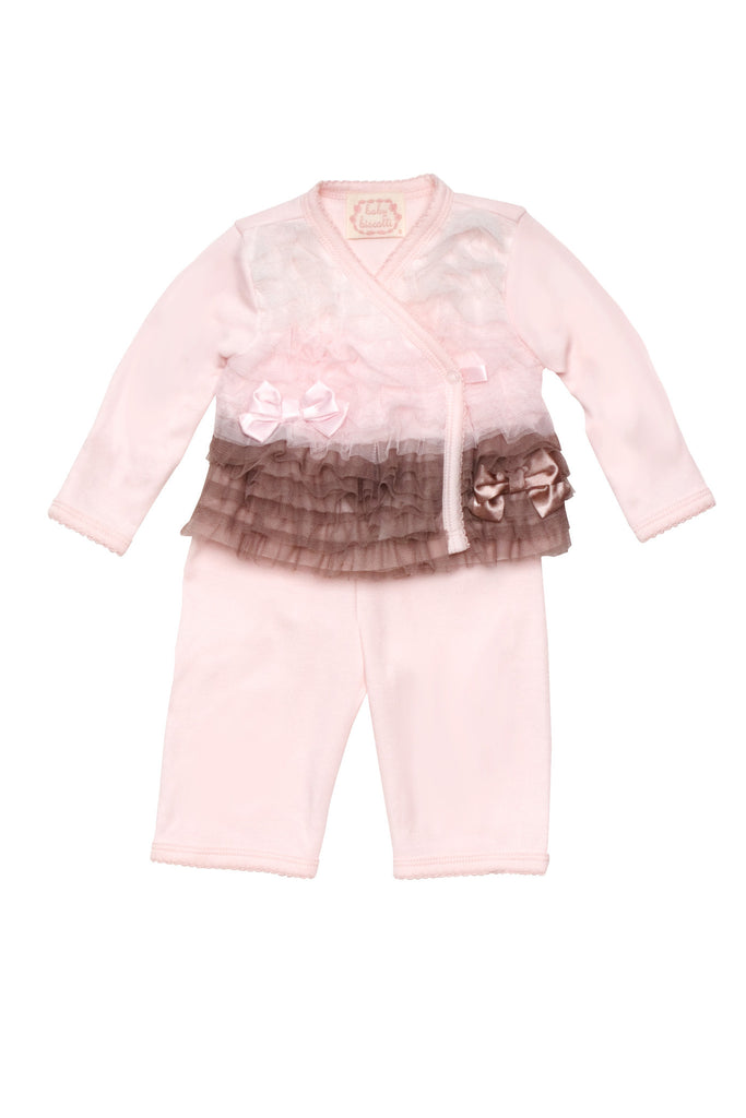 Baby Biscotti Neapolitan Treat Pink Long Sleeve Top & Pant