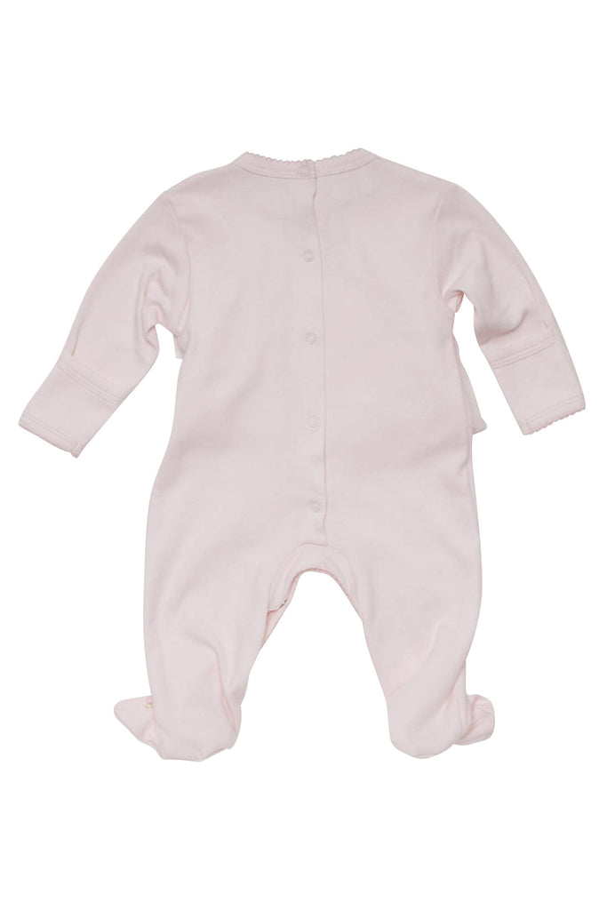 Baby Biscotti Rolling In Ruffles Long Sleeve Footie in Pink