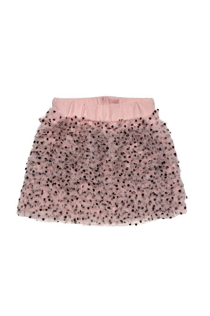 Kate Mack Confetti Hearts Skirt in Pink