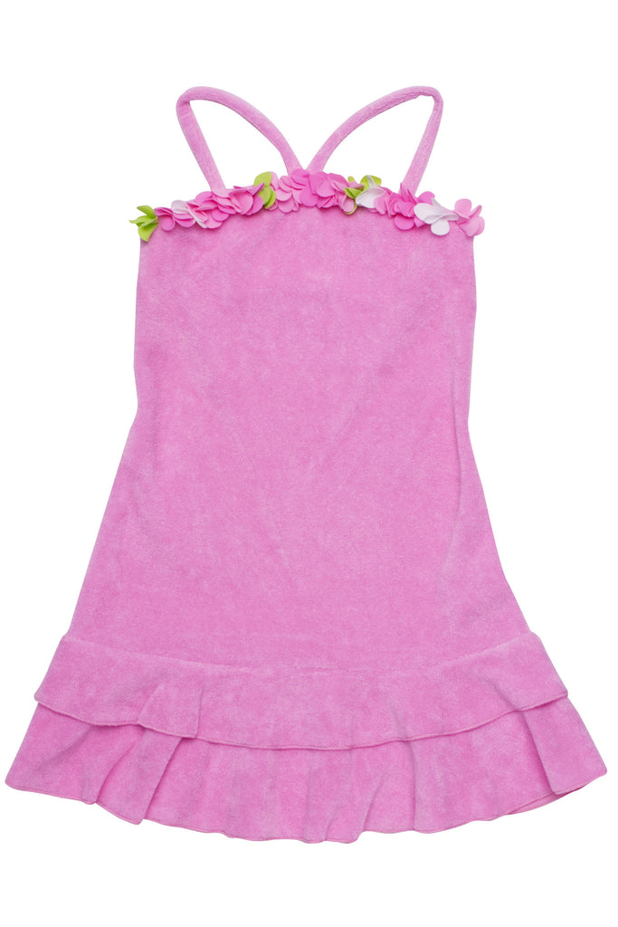 Kate Mack Summer Petals Terry Halter Dress in Pink
