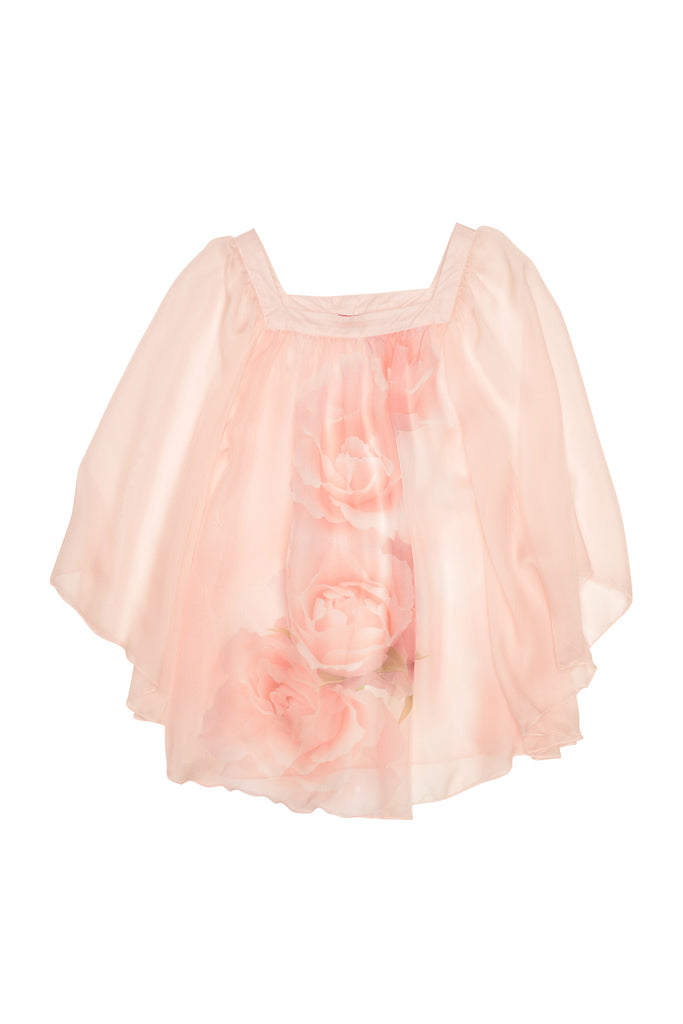 Kate Mack Real Roses Chiffon Coverup - Pink