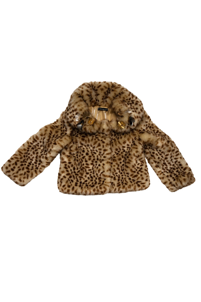 Kate Mack Fur Jacket in Brown