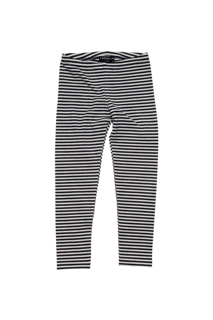 Kate Mack Poodle In Paris Stripe Legging in Navy