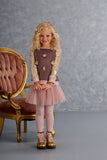 Kate Mack Heart of Gold Tutu Skirt, Cocoa