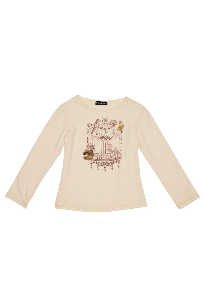 Kate Mack Heart of Gold Tee, Cream