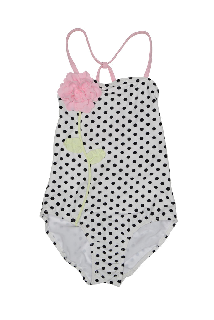 Kate Mack Polka Rose 1-Piece Swimsuit