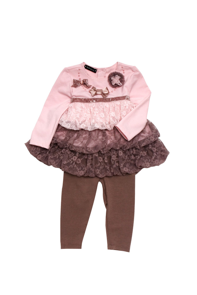 Kate Mack Swiss Mocha Tunic & Legging in Pink