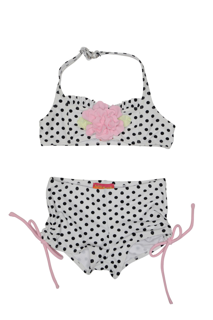 Kate Mack Polka Rose 2-Piece Swimsuit with Boy Short