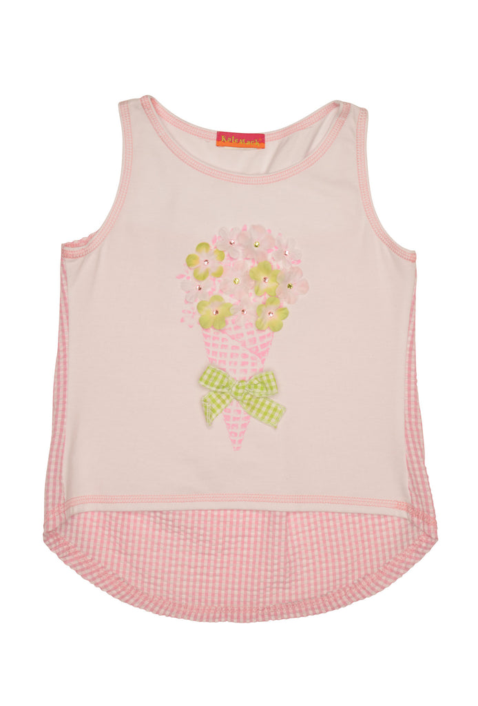 Kate Mack Garden Sweets Top - White