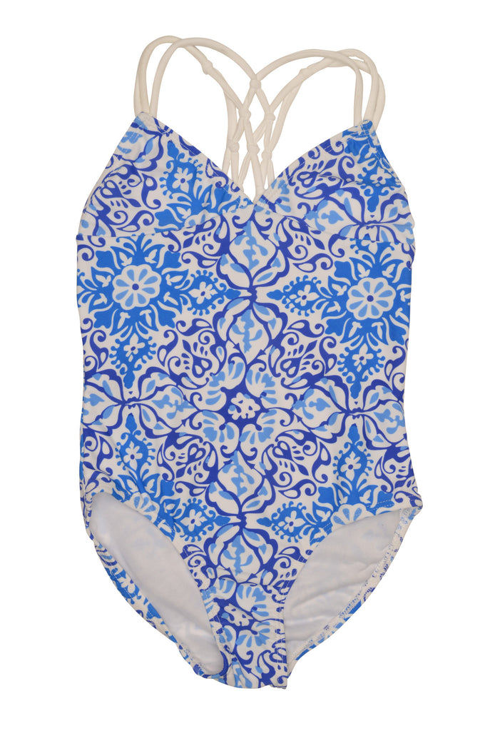 Kate Mack Butterfly Beach 1pc Swimsuit, Blue