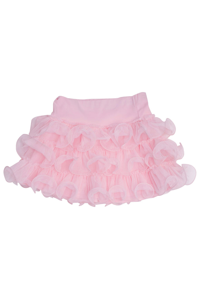 Kate Mack Jenny Annie Dots Tiered Netting Skirt in Pink
