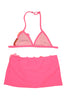 Kate Mack Pink Paradise Swim Skirt and Bikini Top