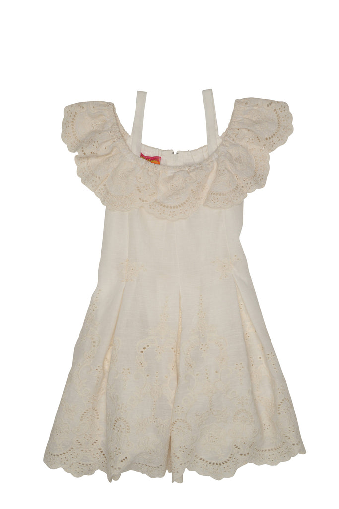 Kate Mack Sweetheart Rose Embroidered Dress