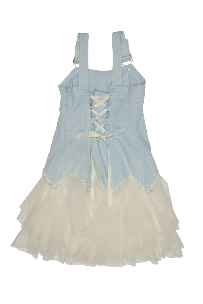Kate Mack Sweetheart Rose Chambray Dress