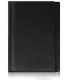 Genuine Leather Trifold Black Pebble Wallet ID Window RFID Blocking | Access Denied