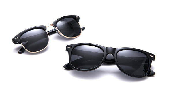 2 Pack Clubmaster & Wayfarer Polarized Sunglasses | Access Denied