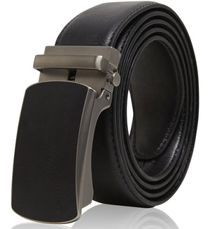 Bonded Leather Ratchet Belts Black 02 | Access Denied