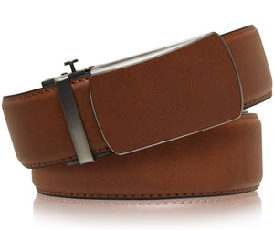 Bonded Leather Ratchet Belts Brown 02 | Access Denied