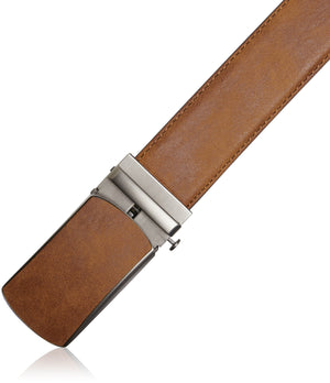 Bonded Leather Ratchet Belts Tan 02 | Access Denied