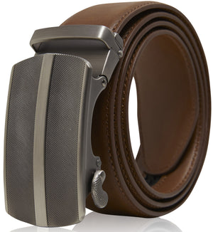Bonded Leather Ratchet Belts Brown 01 | Access Denied