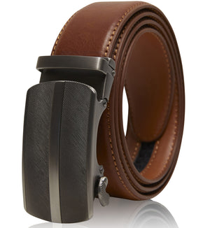 Bonded Leather Ratchet Belts Cognac 01 | Access Denied
