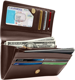 Accordion Clutch With Removable Checkbook Holder