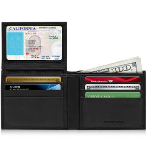 Slim Bifold Wallet W/ Flip-Up ID Window