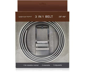 Leather Ratchet Reversible 3 in 1 Belt