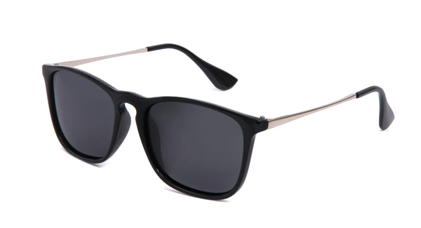 Aviator Round Polarized Sunglasses Black | Access Denied