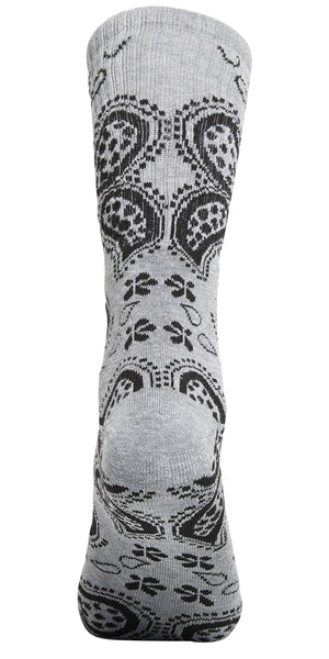 Bandana Print High-Top Printed Socks Unisex Gray | Access Accessories