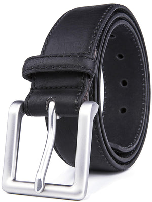 Bonded Leather Belt Black | Access Denied