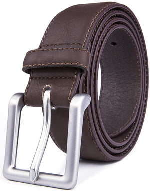 Bonded Leather Belt Brown | Access Denied