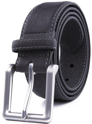 Bonded Leather Belt Gray | Access Denied