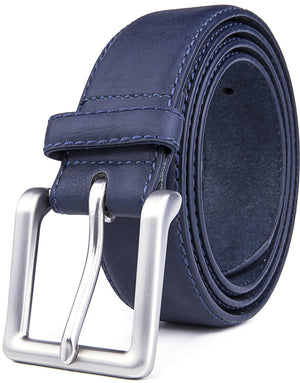 Bonded Leather Belt Blue | Access Denied