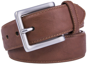 Bonded Leather Belt Cognac | Access Denied