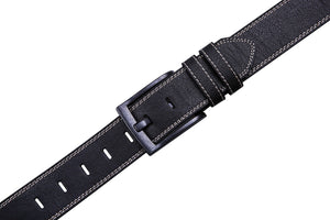 Bonded Leather Belt Black 01 | Access Denied