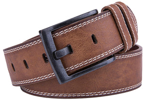 Bonded Leather Belt Cognac 01 | Access Denied