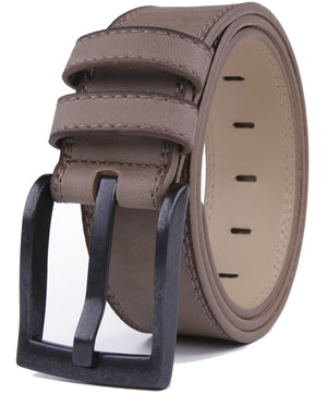 Bonded Leather Belt Stone Gray 01 | Access Denied