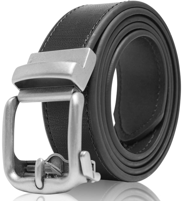 Bonded Leather Ratchet Belt Black | Access Denied
