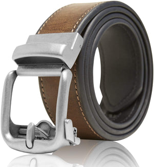 Bonded Leather Ratchet Belt Brown | Access Denied