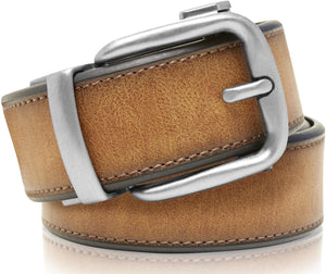 Bonded Leather Ratchet Belt Cognac | Access Denied