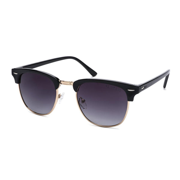 Classical Clubmaster Polarized Sunglasses Black | Access Denied