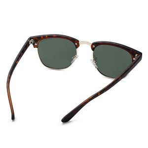 Classical Clubmaster Polarized Sunglasses Brown | Access Denied