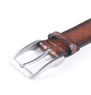 Full Grain Genuine Leather Belt Cognac | Access Accessories