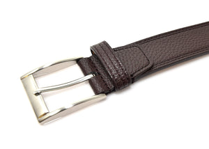 Genuine Leather Belt For Men Brown Pebble | Access Denied