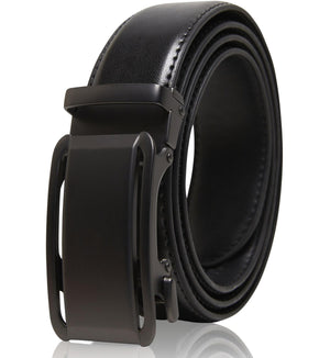 Genuine Leather Ratchet Belt Black | Access Denied